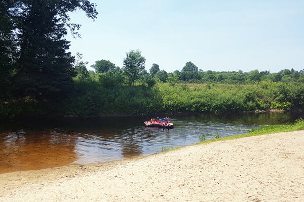 "Tubing down ""The Skoot""... tube rentals available."