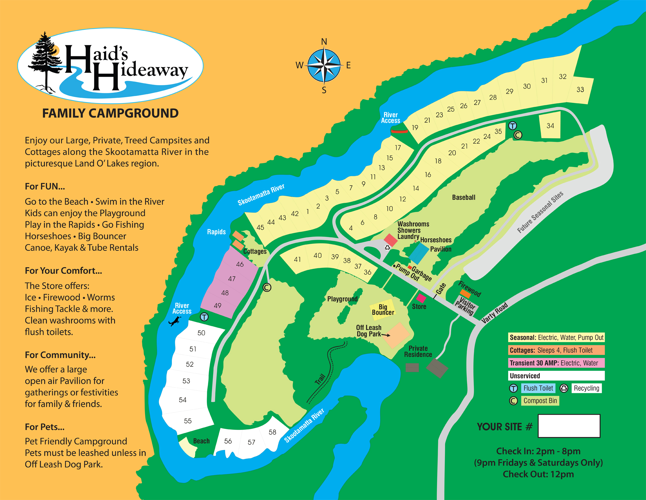 Haid's Hideaway Campground Map - March 24, 2021